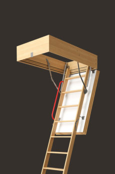 Чердачная лестница Docke серия Lux 70х120х300 см