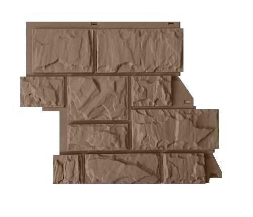 Fasadnye paneli CANADARIDGE faktura Tesanyj kamen 525 x 645 mm bezhevyj