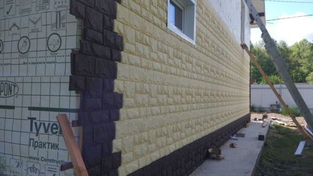 Fasadnye paneli Canadaridge faktura tesanyj kamen tsvet Kremovyj 1