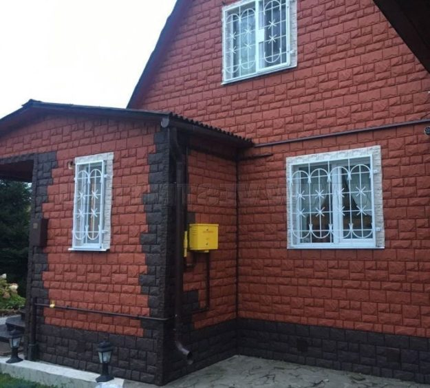 Fasadnye paneli Canadaridge faktura tesanyj kamen tsvet korichnevyj 2