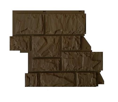 Fasadnye paneli Canadaridge faktura tesanyj kamen tsvet korichnevyj 3