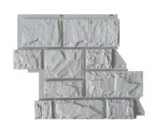 """Фасадные панели Canadaridge, фактура """"тесаный камень"""", цвет светло-серый"""