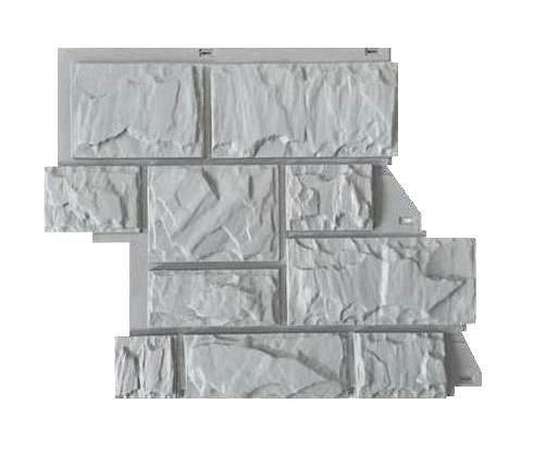 Fasadnye paneli Canadaridge faktura tesanyj kamen tsvet svetlo seryj
