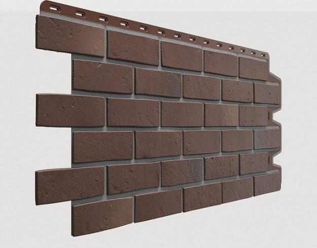 Fasadnye paneli Docke kollektsiya Berg polipropilen tsvet Korichnevyj