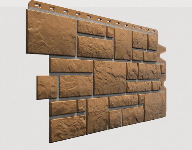 Fasadnye paneli Docke kollektsiya Burg polipropilen tsvet Kukuruznyj