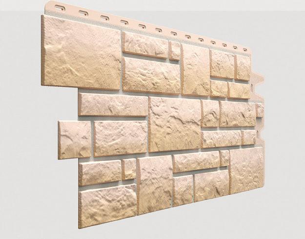 Fasadnye paneli Docke kollektsiya Burg polipropilen tsvet Peschanyj
