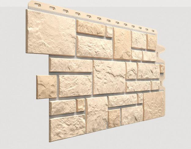 Fasadnye paneli Docke kollektsiya Burg polipropilen tsvet Pshenichnyj