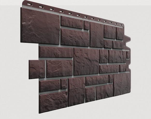 Fasadnye paneli Docke kollektsiya Burg polipropilen tsvet Zemlyanoj
