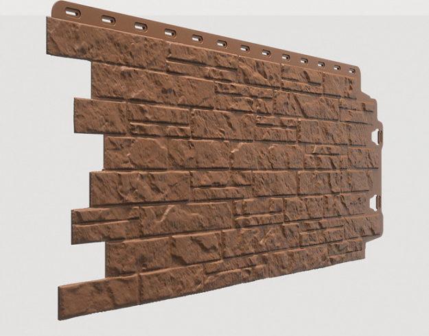 Fasadnye paneli Docke kollektsiya Edel polipropilen tsvet Rodonit