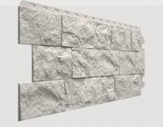 Фасадные панели Docke, коллекция Fels, полипропилен, цвет Арктик