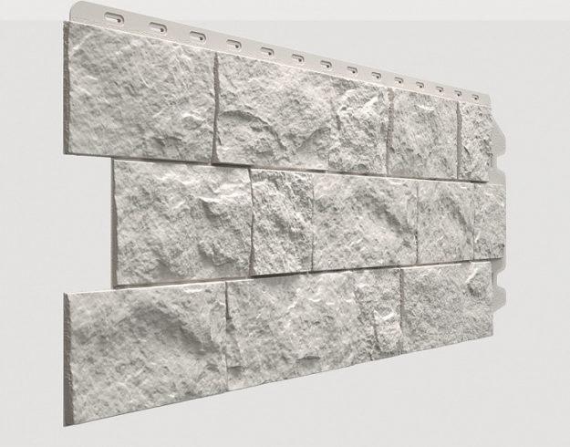Fasadnye paneli Docke kollektsiya Fels polipropilen tsvet Arktik