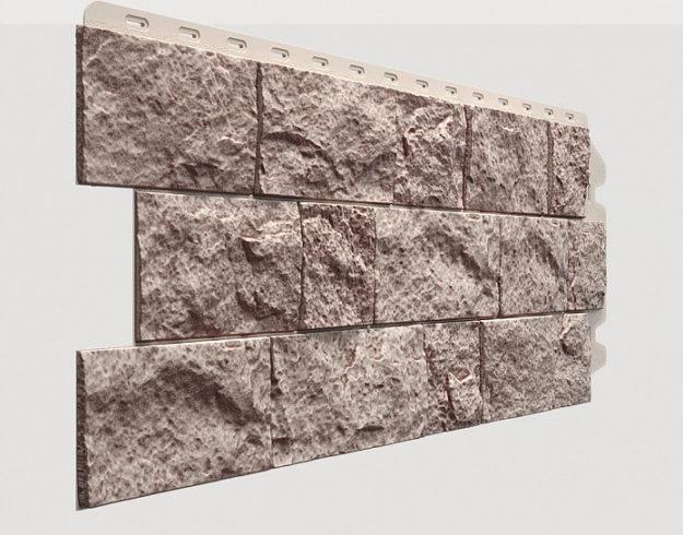 Fasadnye paneli Docke kollektsiya Fels polipropilen tsvet Perlamutrovyj