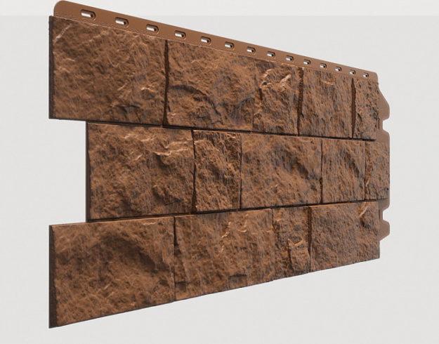 Fasadnye paneli Docke kollektsiya Fels polipropilen tsvet Rzhanoj
