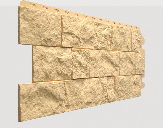 Fasadnye paneli Docke kollektsiya Fels polipropilen tsvet Slonovaya kost