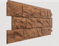 Фасадные панели Docke, коллекция Fels, полипропилен, цвет Терракотовый