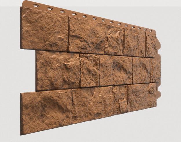 Fasadnye paneli Docke kollektsiya Fels polipropilen tsvet Terrakotovyj