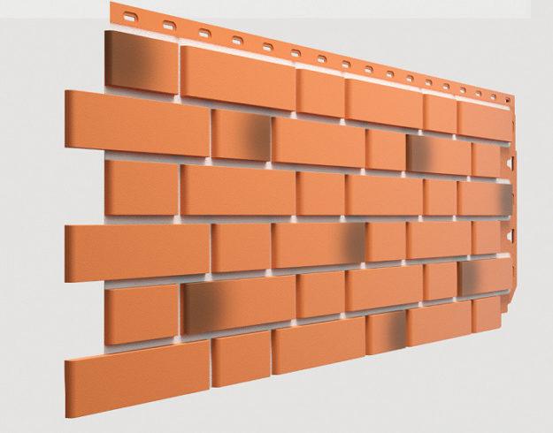 Fasadnye paneli Docke kollektsiya Flemish polipropilen tsvet Krasnyj zhzhenyj