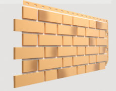 Фасадные панели Docke, коллекция Flemish, полипропилен, цвет Желтый жженый