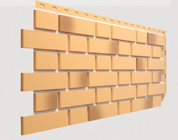 Fasadnye paneli Docke kollektsiya Flemish polipropilen tsvet ZHeltyj zhzhenyj
