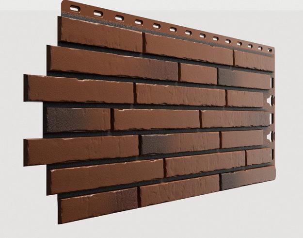 Fasadnye paneli Docke kollektsiya Klinker polipropilen tsvet Kalahari