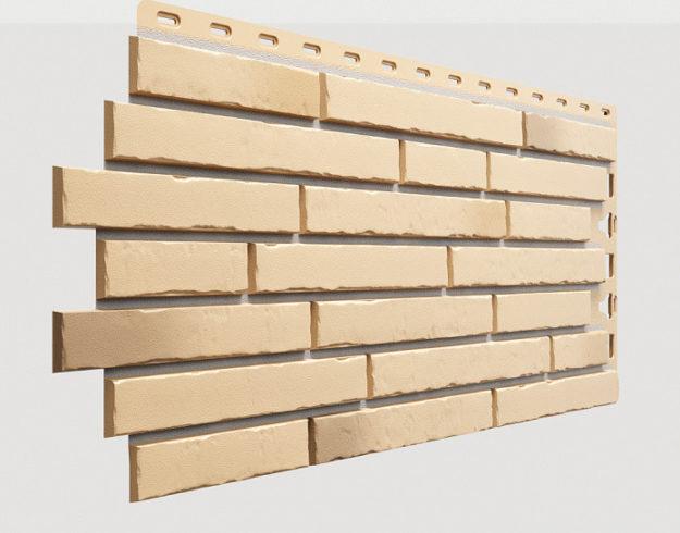 Fasadnye paneli Docke kollektsiya Klinker polipropilen tsvet Karakumy