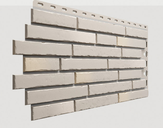 Fasadnye paneli Docke kollektsiya Klinker polipropilen tsvet Sahara