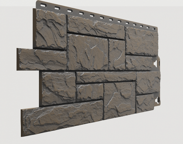 Fasadnye paneli Docke kollektsiya Slate polipropilen tsvet Kurshevel