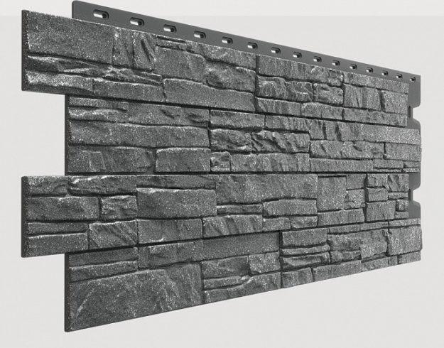 Fasadnye paneli Docke kollektsiya Stein polipropilen tsvet Antratsit