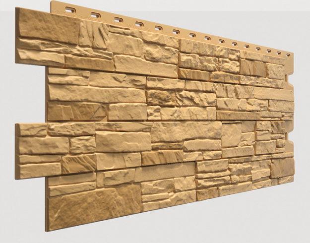 Fasadnye paneli Docke kollektsiya Stein polipropilen tsvet Bronza