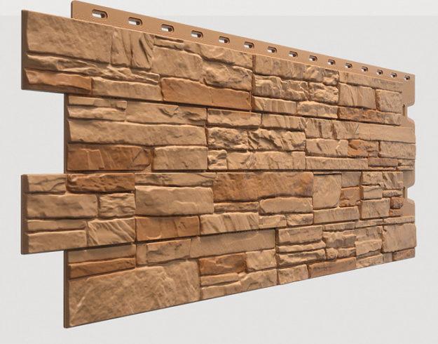 Fasadnye paneli Docke kollektsiya Stein polipropilen tsvet Osennij les