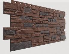 Фасадные панели Docke, коллекция Stein, полипропилен, цвет Темный орех