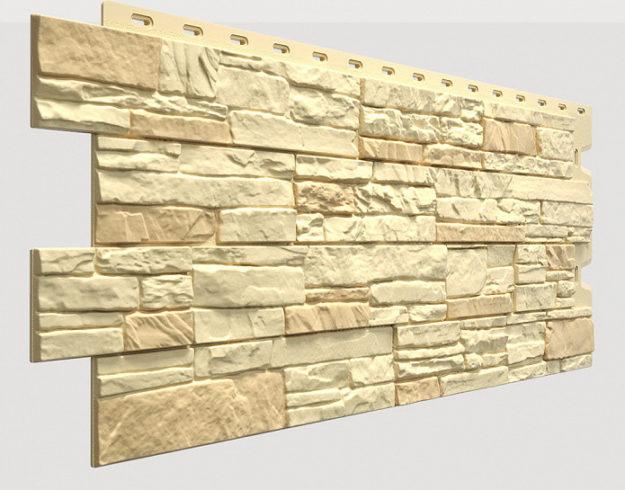 Fasadnye paneli Docke kollektsiya Stein polipropilen tsvet YAntarnyj