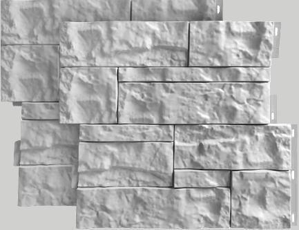 Fasadnye paneli dlya naruzhnoj otdelki doma Wildstone tsvet belyj