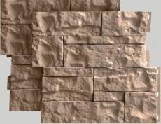Фасадные панели для наружной отделки дома Wildstone цвет бежевый
