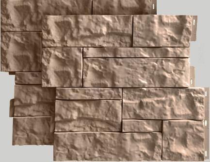 Fasadnye paneli dlya naruzhnoj otdelki doma Wildstone tsvet bezhevyj