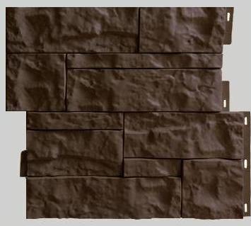 Fasadnye paneli dlya naruzhnoj otdelki doma Wildstone tsvet korichnevyj 1