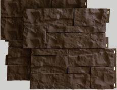 Фасадные панели для наружной отделки дома Wildstone цвет коричневый