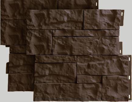 Fasadnye paneli dlya naruzhnoj otdelki doma Wildstone tsvet korichnevyj