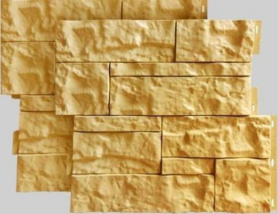 Fasadnye paneli dlya naruzhnoj otdelki doma Wildstone tsvet kremovyj