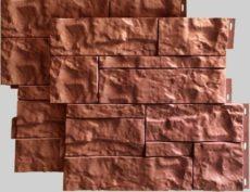 Фасадные панели для наружной отделки дома Wildstone цвет терракот