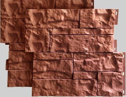 Fasadnye paneli dlya naruzhnoj otdelki doma Wildstone tsvet terrakot