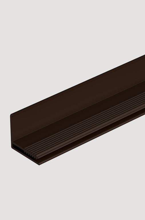 Fasadnyj L profil Docke 35 mm Stein Fels Stern Klinker SHokoladnyj