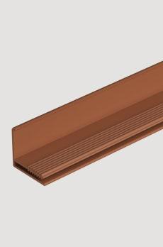 Фасадный L-профиль Docke 35 мм (Stein, Fels, Stern, Klinker, Slate) Каштан