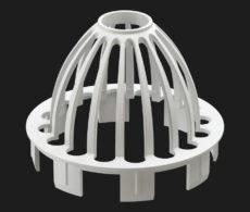 Сетка-паук для водостока защитная Docke для кровли, серия Premium, цвет Пло