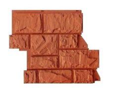 """Фасадные панели Canadaridge, фактура """"тесаный камень"""", цвет терракотовый"""