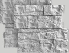 Цокольный сайдинг камень Wildstone, 410х470 мм, цвет белый