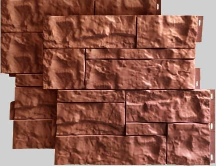 TSokolnyj sajding kamen Wildstone 410h470 mm tsvet terrakot