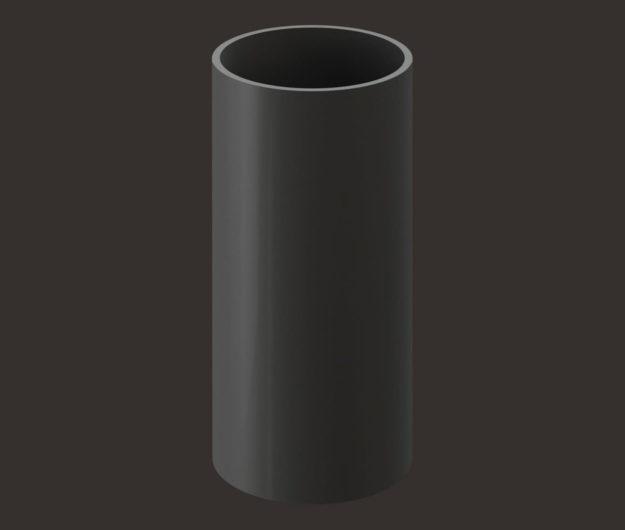 Truba vodostochnaya 1 m Docke dlya krovli seriya Lux tsvet SHokoladGrafit 1