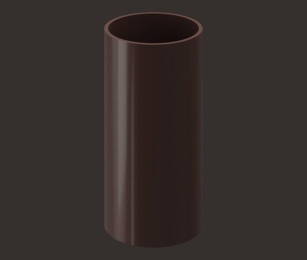 Truba vodostochnaya 3 m Docke dlya krovli seriya Lux tsvet SHokoladGrafit