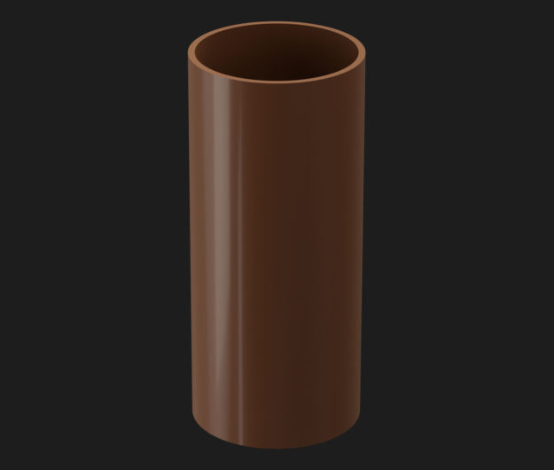 Truba vodostochnaya Docke Premium 3 m tsvet SHokoladKashtanGrafitGranat 1